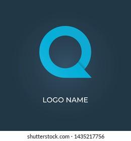 "Letter ""Q"" logo isolated. Alphabet vector"