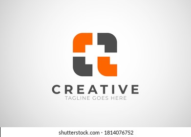 Letter Q Logo, letter Q from square puzzle, usable for business and technology logos, flat design logo template, vector illustration