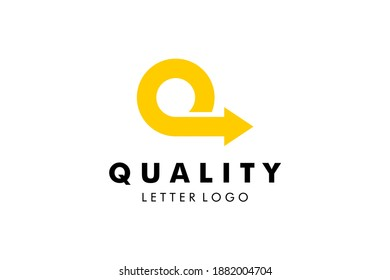 Letter Q Logo : Suitable for Company Theme, Logistic Shipping Theme, Technology Theme, Initial Theme, Infographics and Other Graphic Related Assets.
