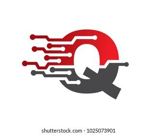 Letter Q Logo Template Design, Emblem, Design Concept, Creative Symbol, Icon