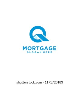 letter Q mortgage logo design