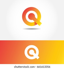 letter Q or QC design logo icon