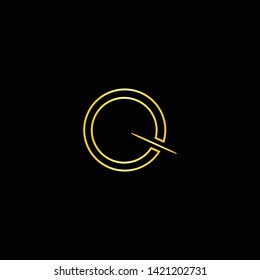 Letter Q QQ Clean and Minimal Initial Based Logo Design