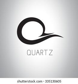 Letter Q (Quartz) logo icon design template elements