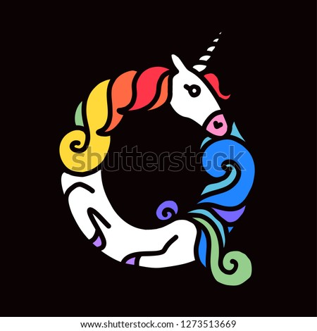 c47fcfac8d Letter Q Unicorn Written By Unicorns Stock Vector (Royalty Free ...