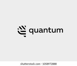 Letter q vector line logo design. Creative minimalism logotype icon symbol.