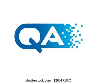 Letter QA Template Design Vector, Emblem, Concept Design, Creative Symbol, Icon