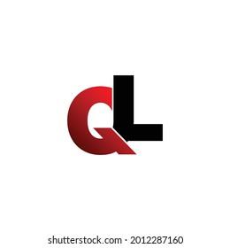 Letter QL simple logo design vector