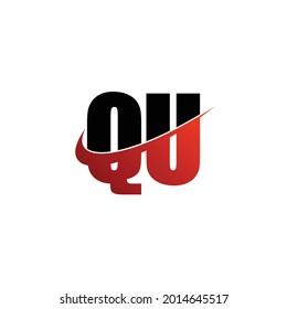 Letter QU simple logo odesign vector