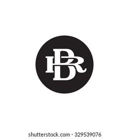 letter R and B monogram circle logo