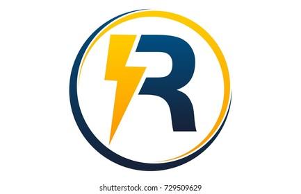 Letter R Bolt Fast