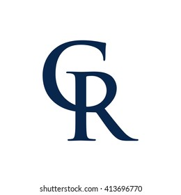 letter r and c logo vector.