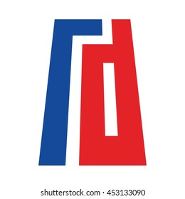 letter R and D logo vector.