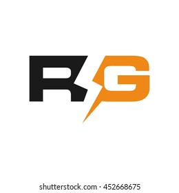 letter R and G logo vector.
