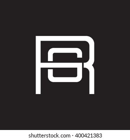 Letter S P Monogram Square Shape Stock Vector Royalty Free