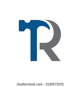 Letter R Hammer Building Services, Repair, Renovation and Construction Logo Design