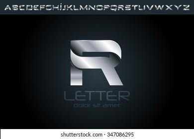 Letter R Logo, alphabet logo design.