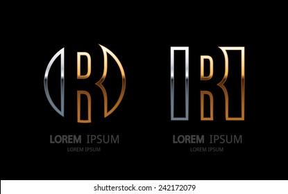 Letter R logo. Alphabet logotype vector design.