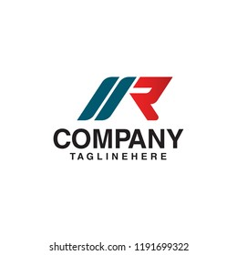 Letter R Logo Design Concept template
