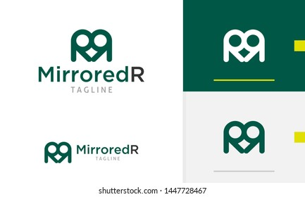 Letter R logo design, letter R logo concept, abstract face icon, suitable for business and app logo or icon