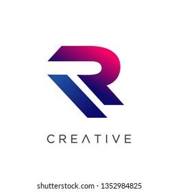 Letter R Logo Design, Modern Creative R Logo Template