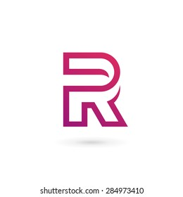 Letter R logo icon design template elements