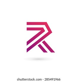 Letter r logo images stock photos vectors shutterstock letter r logo icon design template elements thecheapjerseys Gallery