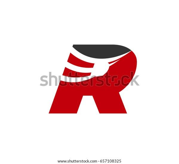 Letter R logo icon design template elements. Vector color sign