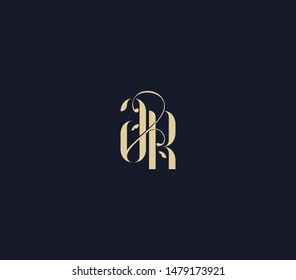 letter A R logo. luxury lettr AR logo design element.