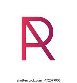 Letter R logo. RA, AR monogram.