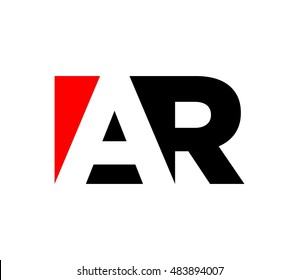 letter A and R logo vector