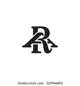 letter A and R monogram logo