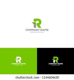 Letter R Organic Logo Template