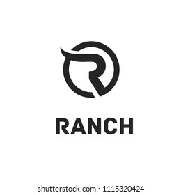 letter r for ranch logo icon designs