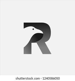 Letter R Raven