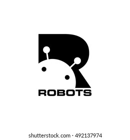 Letter R for Robotic Concept