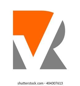 letter R and V logo vector.