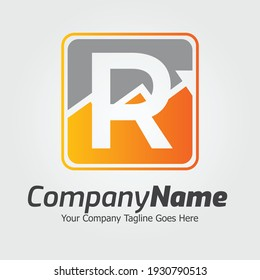 Letter R vector logo template, Colorful Letter R logo, Financial Company Logo, Financial Institute Advisors Logo Design Template Vector Icon
