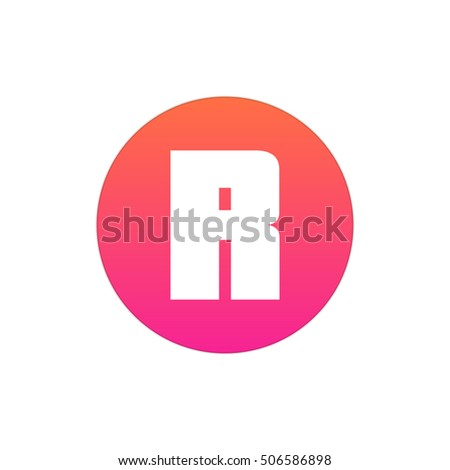 a9967e6f Letter R vector, logo. Useful as branding symbol, corporate identity,  alphabet element, app icon, clip art and illustration. - Vector