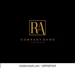 Letter RA Elegant Modern Logo Design