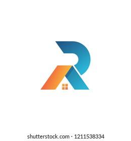 Letter RA Logo. RA Letter Design Vector. RA home logo