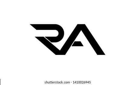 Letter RA logo icon design template