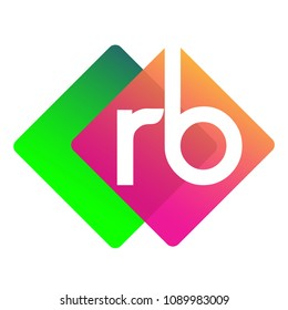 Letter RB logo with colorful geometric shape, letter combination logo design for creative industry, web, business and company.