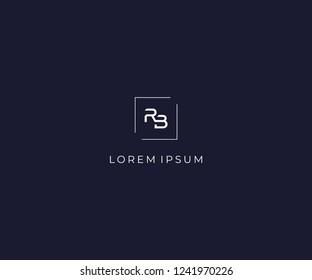 letter RB logo design element