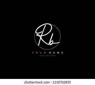 Letter RB Logo Manual Elegant Minimalist Signature Logotype