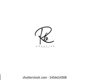 Letter Rb Logo Manual Elegant Minimalism Signature Logo Design