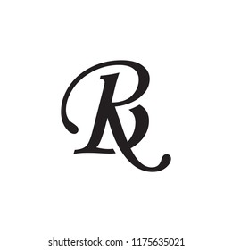 letter rb logo vector