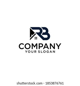 letter RB with Real Estate element. home initial R B concept. Construction logo template, Home and Real Estate icon. Housing Complex Simple Vector Logo Template. - vector]