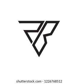 letter rb triangle linear geometric logo