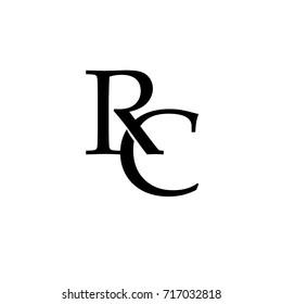 letter RC  element logo design